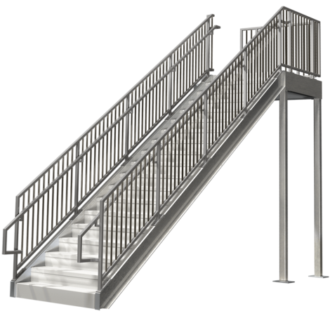 Commercial Stairs Ibc Compliant Premade Staircases Bolt