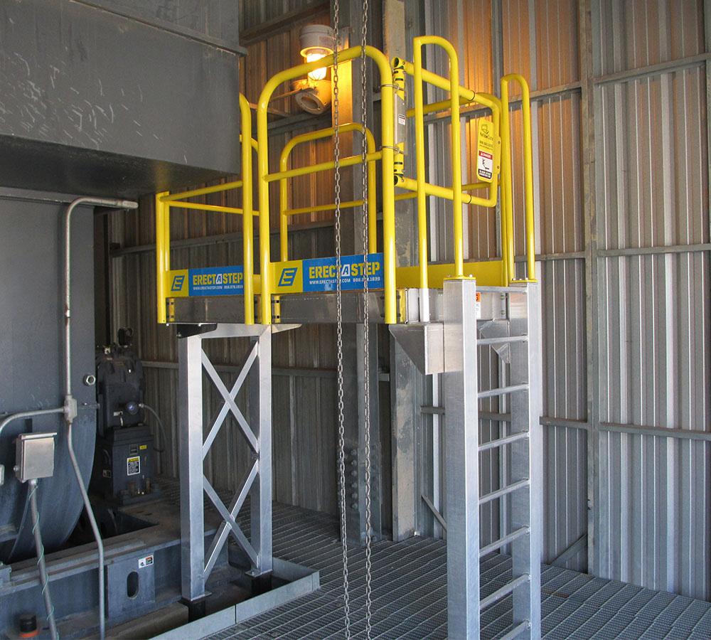 ErectaStep 7 Step Ladder and platform in industrial facility