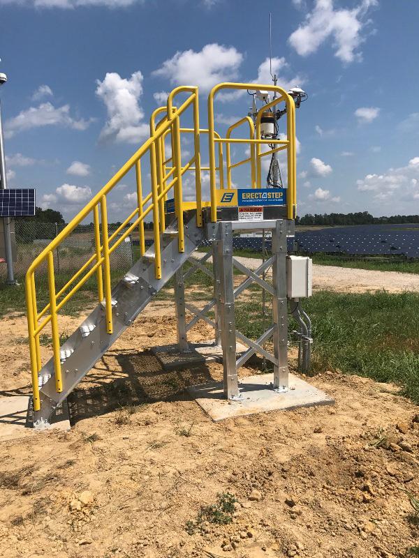 ErectaStep stairs with Platform Access Duke Energy Monroe NC
