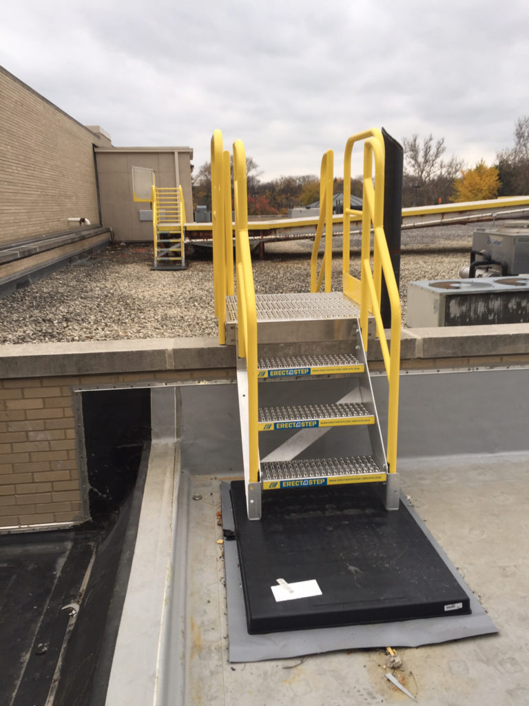 ErectaStep Rooftop 3 Step Industrial Crossover Access Stairs
