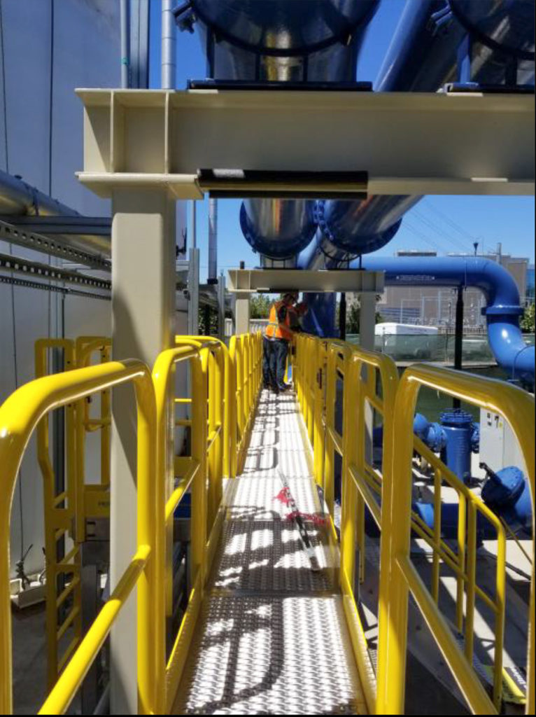 Erectastep TrueBeck Construction Chiller plant 30ft PipeAccess 2