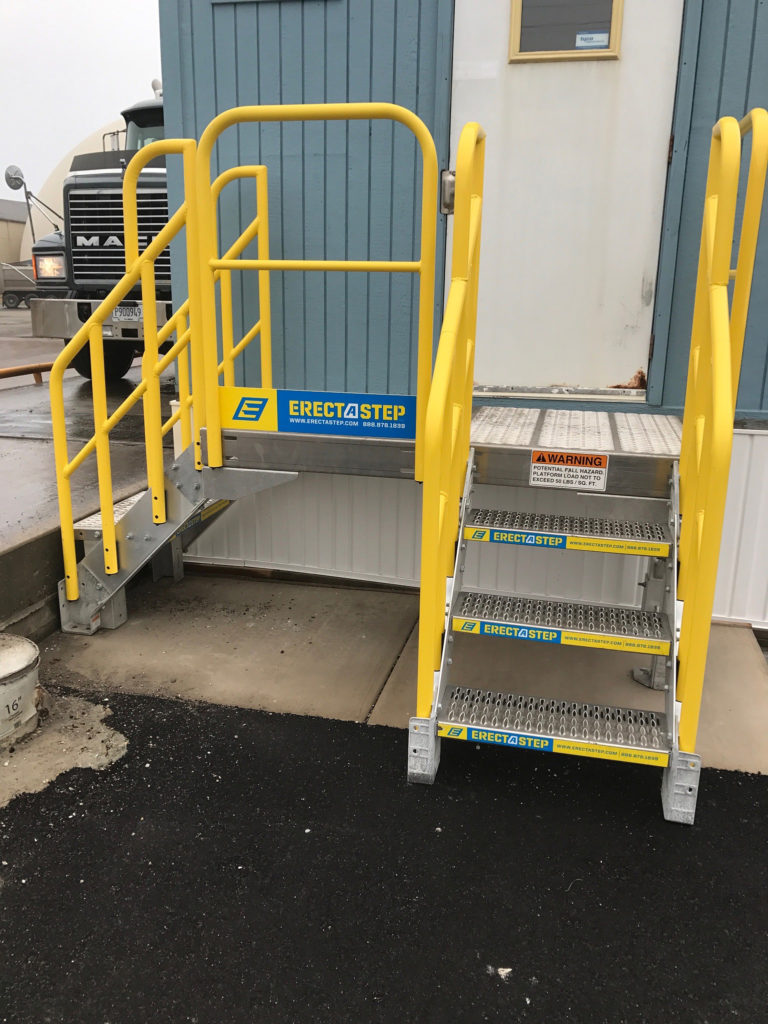 Erectastep building access industrial stairs