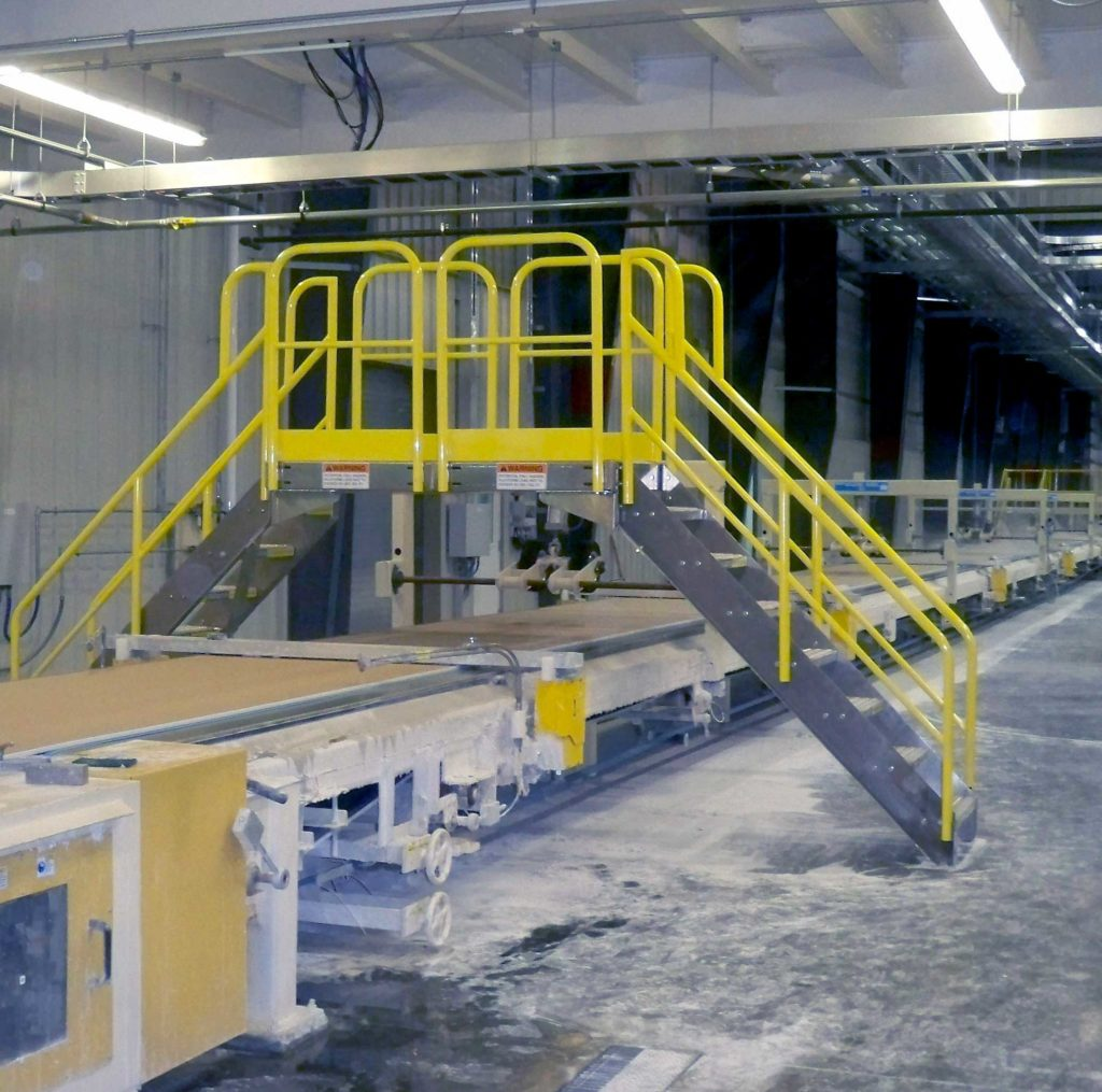 Erectastep certainteed crossover stairs in manufacturing plant