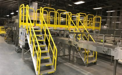 Erectastep dual stairs crossover manufacturing plant