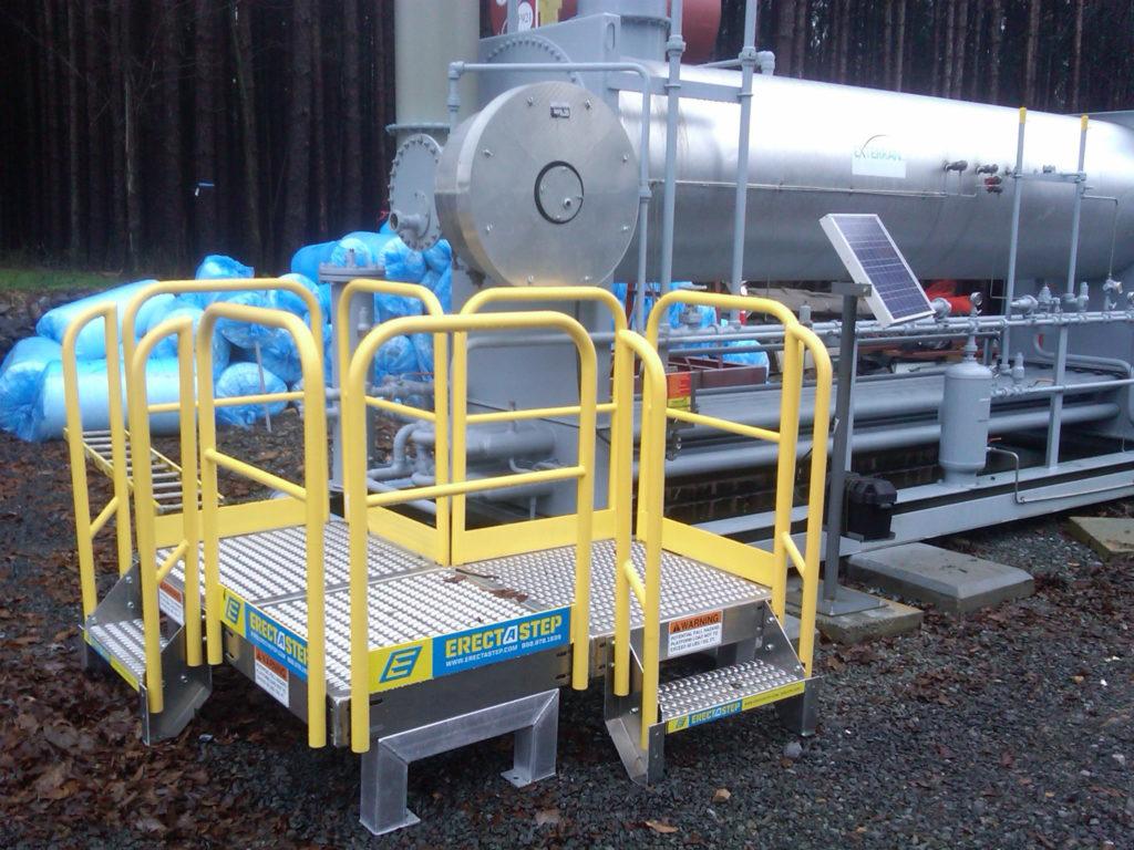Erectastep end pipe access platform