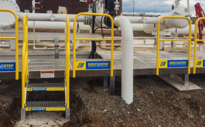 Erectastep pipe access platform Petrochem_Colorado
