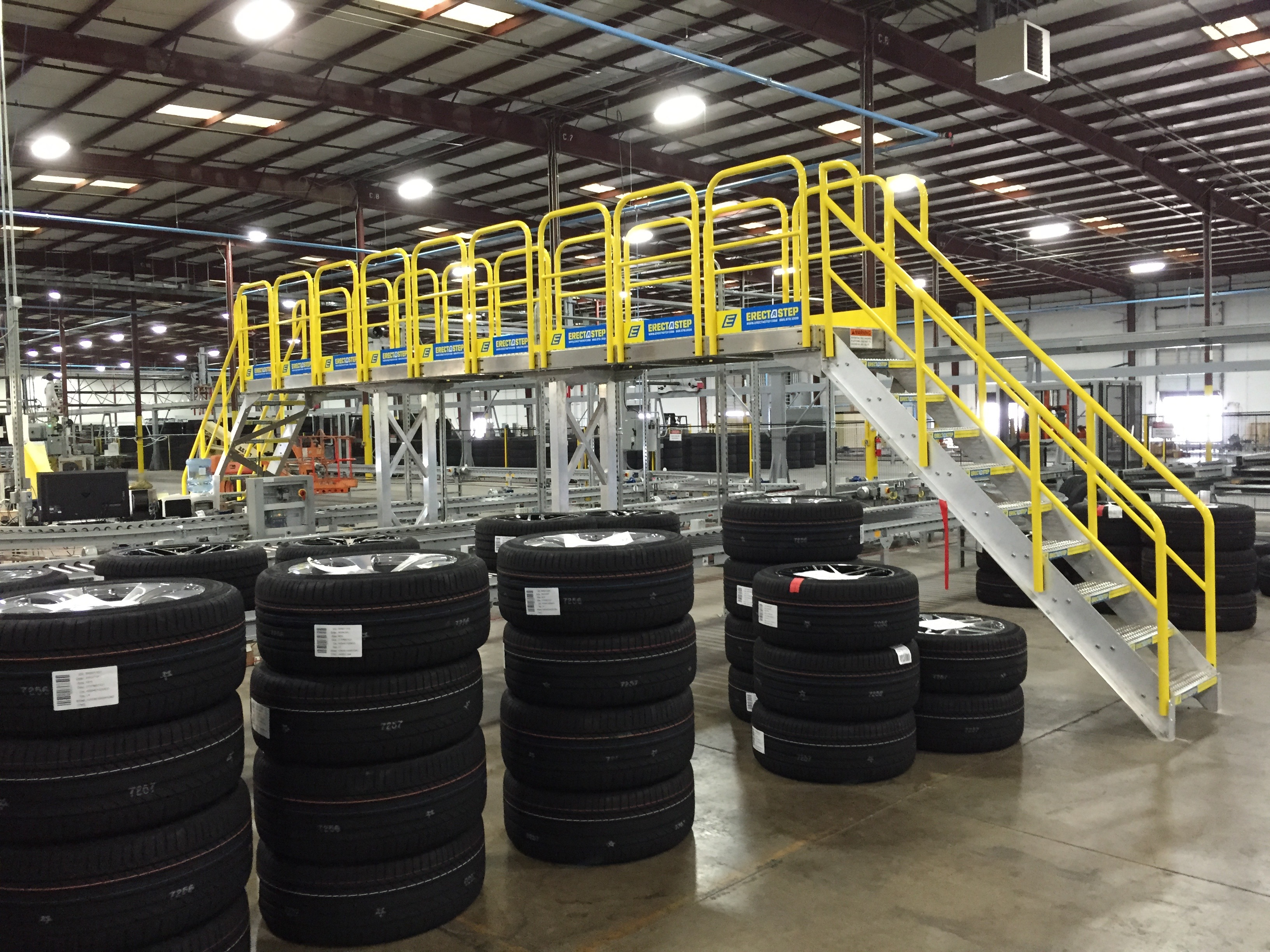 Erectastep Crossover Stairs Tire Qc Manufacturing Line