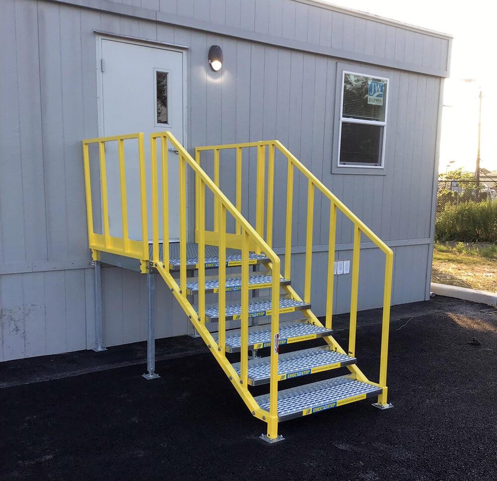 OSHA Compliant Metal Stair Installation