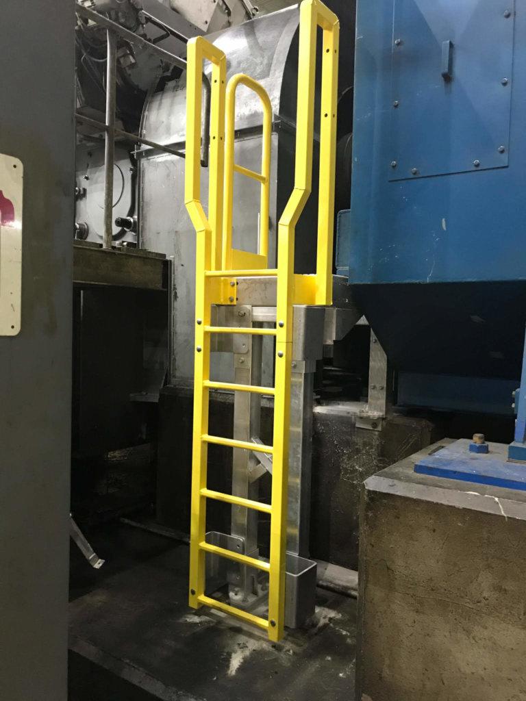 Metal Ladder With Platform