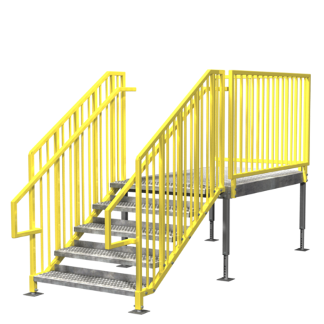 Portable Stairs Prefab Ibc Osha Options In Stock Erectastep