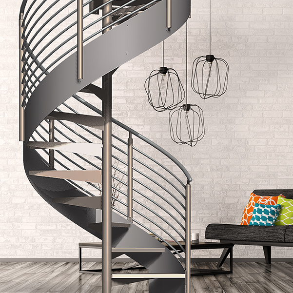 Mono stringer stair kit yellowgate for Spiral staircase square