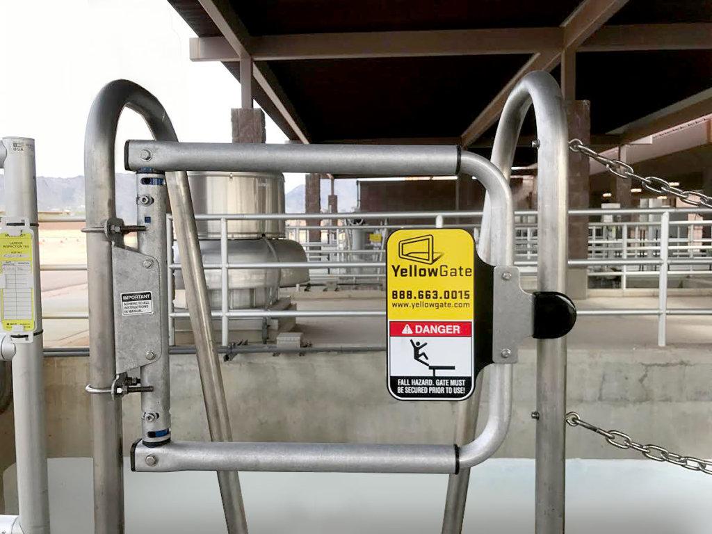 mill finish safety gate