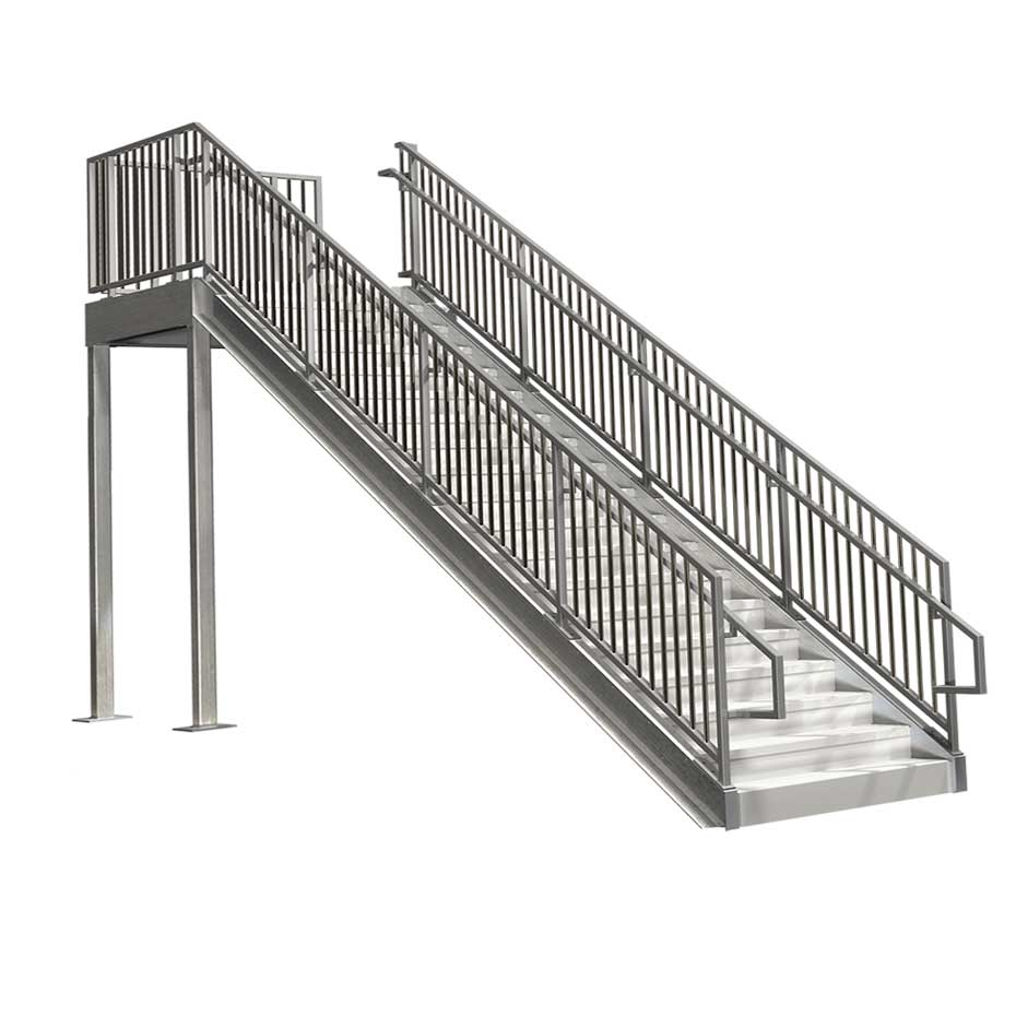Commercial stairs ibc compliant premade staircases bolt for Ready made staircase